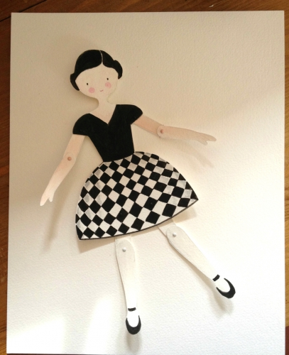 paper,dolls, aquarelle